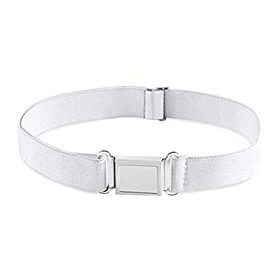 Buyless Fashion Kids Boys Adjustable Elastic Dress Stretch Belt With Magnetic Buckle - 5099-White