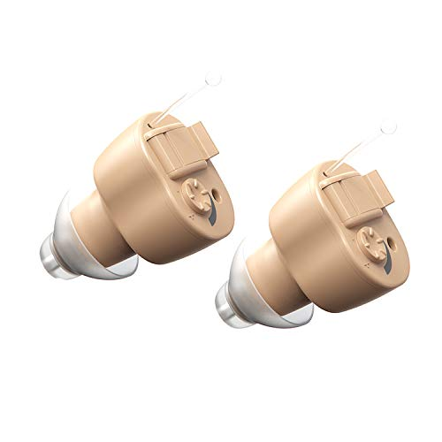 Super Mini Digital Hearing Amplifier Aid Pair of 2 - Sound Enhancement Device with Noise Reduction for Adults and Seniors, Batteries and Hearing Aid Cleaning Brushes Included