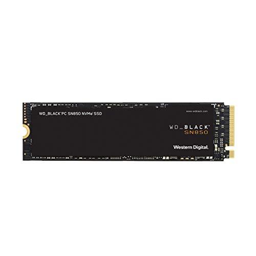 WD_BLACK SN850 de 1 TB SSD interna para juegos ; tecnología PCIe Gen. 4, velocidades de lectura de hasta 7000MB/s, M.2 2280