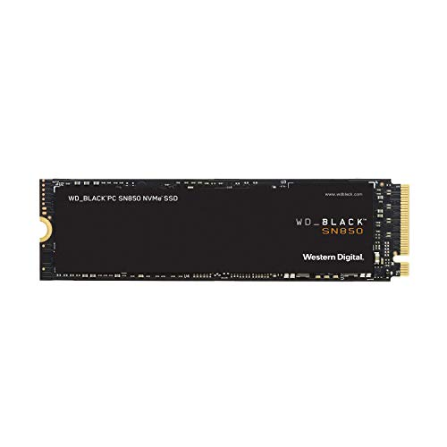Western Digital 500GB WD_Black SN850 NVMe Internal Gaming SSD – Gen4 PCIe, M.2 2280, Up to 7000 MB/s – WDS500G1X0E