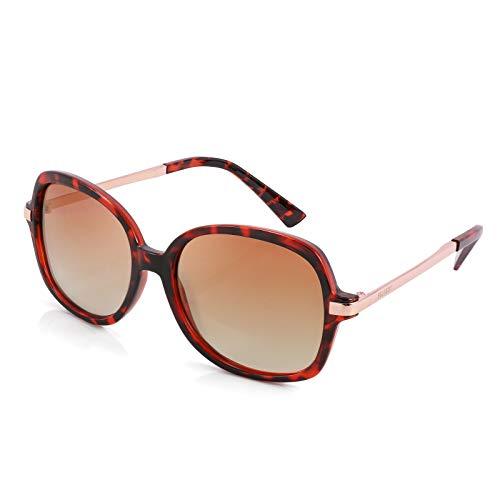 FEISEDY Clásicas Polarizadas Gafas de Sol para Mujer Gafas de Sol Cuadradas con Diseño de Tonos Anchos para Mujer B2683