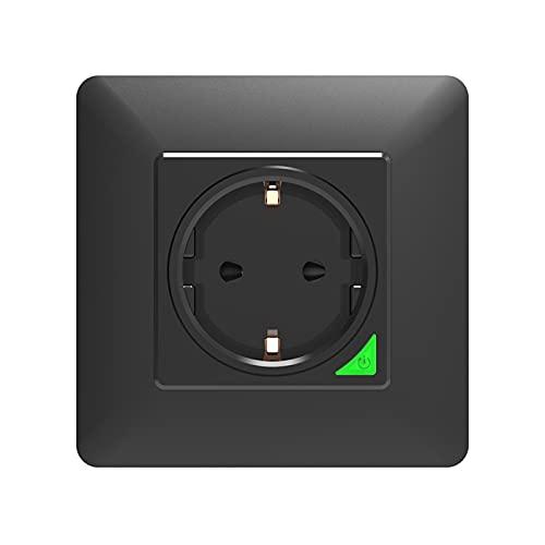 LOULE Tuya - Enchufe inteligente inalámbrico, compatible con Alexa y Google Home, control de voz, toma de sincronización, no requiere concentrador