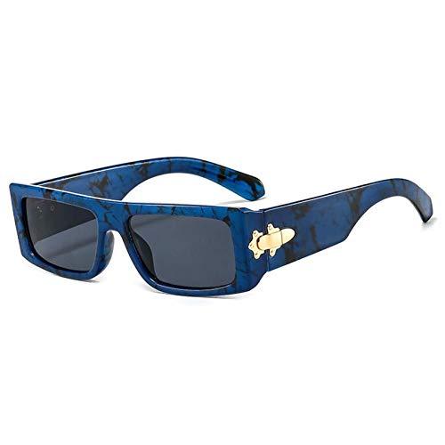 ZZOW Gafas De Sol Rectangulares De Moda De Lujo para Mujer, Diseñador De Marca Vintage, Gafas De Leopardo Coloridas para Hombre, Gafas De Sol Cuadradas, Sombras