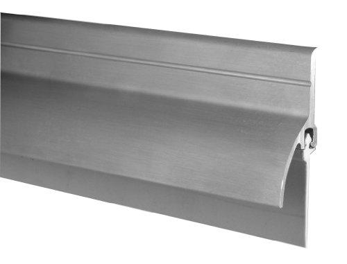 Pemko - 345AV36 Door Bottom Sweep with Rain Drip, Mill Finish Aluminum with Gray Vinyl Insert, 0.5625' W x 2' H x 36' L