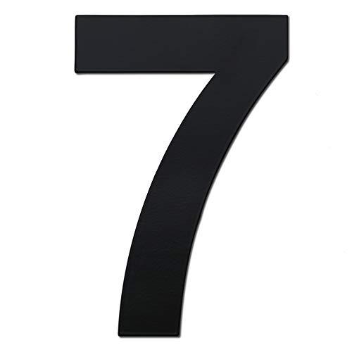 nanly Moderne Hausnummer aus Edelstahl,in Anthrazit RAL 7016,Ziffern & Buchstaben,Höhe:15.3cm/6 Zoll (Ziffer 7)