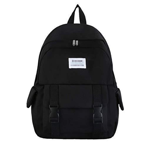 MQJ Travel School Ladies College Girls Lightweight Commuter Casual Daypacks Bag Backpack for Women Laptop Rucksack,Black,28X40X12Cm