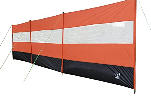 OLPRO Outdoor Leisure Products Windbreak with clear panel steel pole...