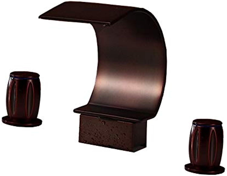 PLUMBER X 2-Griff Waschbecken Wasserhahn Mit Versorgungsschlauch Bleifrei Reine Messing Waschbecken Wasserhahn Mischer Doppelgriff 3 Lcher Badewanne Kalt Hot Tap Deck Montiert