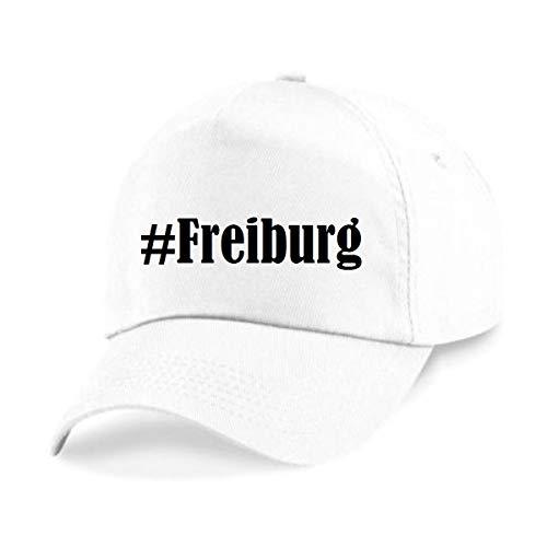 Reifen-Markt Base Cap Hashtag #Freiburg Größe Uni Farbe Weiss Druck Schwarz