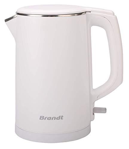 Brandt BO1518CTW - Bouilloire Électrique - 1,5L - 2150W - Socle Rotatif à 360° - Blanche