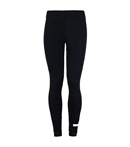 adidas The FOLD Tight Leggings enganliegende Damen Sport-Hose mit Stella McCartney Logo Fitness-Hose Freizeit-Hose Schwarz, Größe:S