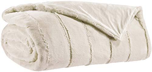 Vivaraise - Couverture canapé - Plaid canapé - Plaid - Couverture Polaire - Couvre lit - Couverture Plaid - Couverture Chaude - Plaid Extra-Doux - Multifonctions - 140 x 180 - Neige Blanc - Asha