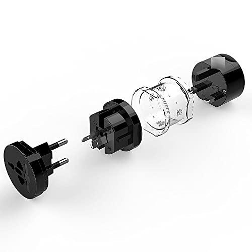 Convertidor de Enchufe Enchufe Universal Adaptador eléctrico Toma de Corriente portátil Toma de Corriente All In One Travel Converter Uso en Todo el Mundo Estados Unidos/Reino Unido/EU/AU Univer