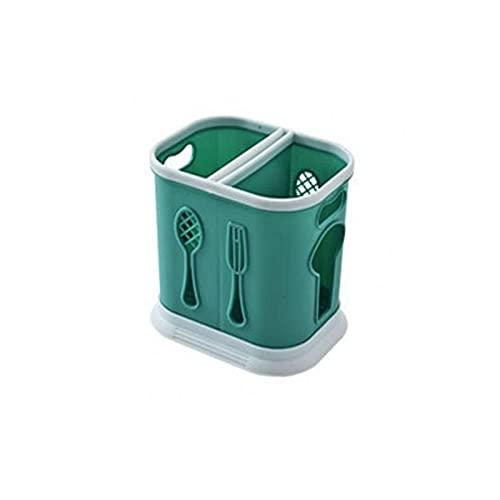Wzdszuilsn Organizador Cubiertos, Cuchara práctica Chopsticks Caja de almacenamiento Caja de almacenamiento Ahorro de vajilla Soporte de vajilla Smooth Edge Spoons Organizador para el hogar Cocina Res