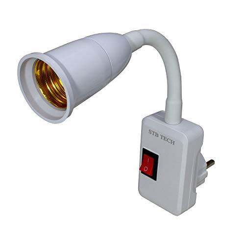 STBTECH- Luces LED de pared flexibles, brazo oscilante LED, luces de trabajo con interruptor de encendido/apagado, casquillo E27, 1 paquete