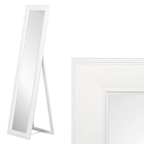 LEBENSwohnART Standspiegel NURI Weiß ca. H180cm Spiegel Ankleidespiegel Ganzkörperspiegel