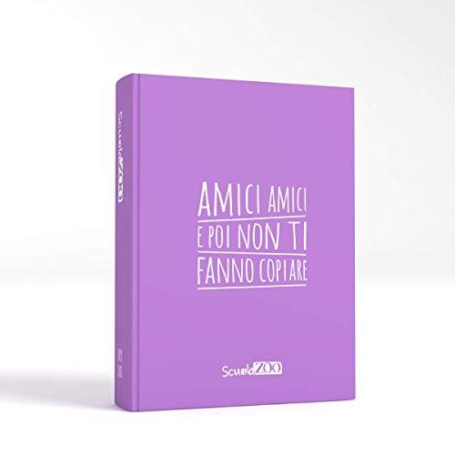 ScuolaZoo Agenda Diario Scolastico 2019 2020 con Meme divertentissimi e Tanti Adesivi, Disponibile in 6 Colori e 3 Dimensioni (Lilla, Classic)