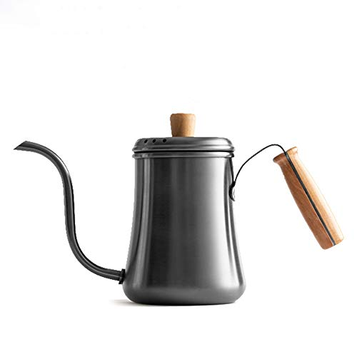 PN-Braes Tetera de cafe Cafetera Cuello de Cisne 304 de Acero Inoxidable Integrado de moldeo 1000ML Cuello de Cisne percolador Caldera de te Opcionales para el Servicio de cafe