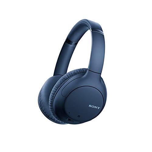 Sony WHCH710N - Auriculares inalámbricos Noise Cancelling (Batería 35 h, Carga rápida, llamadas Manos Libres, diseño Compacto Alrededor de la Oreja, óptimo para trabajar en casa), adaptable, Azul