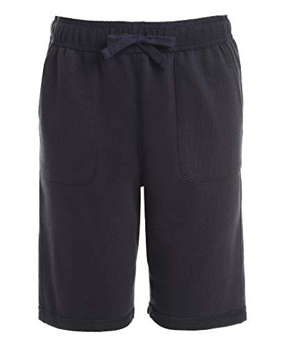 Nautica Boys' Big School Uniform Sensory-Friendly French Terry Short, Navy, Large(14/16)
