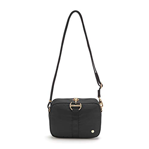 PacSafe Women's Citysafe CX 3.2L Anti Theft Square Crossbody, Black, 3.2 Liter