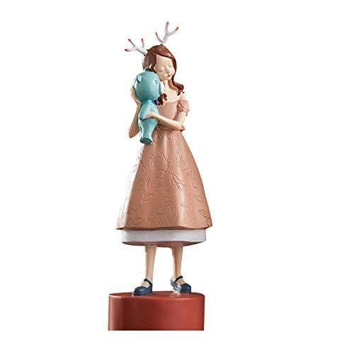 LHQ-HQ Europa Estilo Sueño Chica Resina Artesanía Figuras De Dibujos Animados Dulce Niña Miniaturas Modelo Jardín Boda Decoración