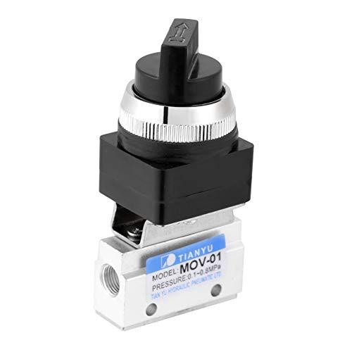 2-Wege Pneumatikventil, MOV-01 Pneumatisches Mechanisches Luftventil G1 / 8 zur Steuerung der Membranen Größerer Ventile oder Kleiner Zylinder