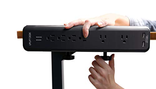 Uplift Desk - Clamp-On Surge Protector with USB Charger