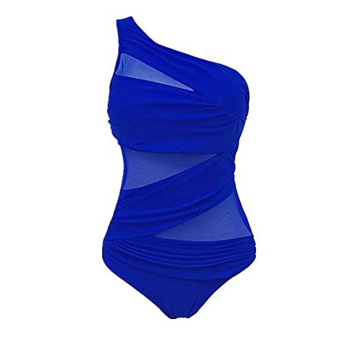 N\P Traje de baño de una pieza de malla bikini push-up traje de baño de mujer, B, XX-Large