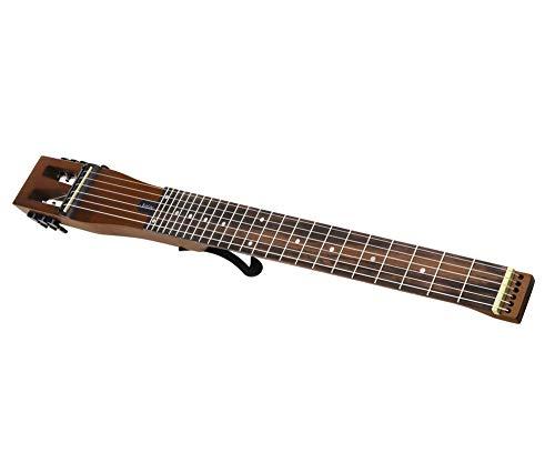 Anygig AGNSE Gitarre mit 6 Saiten für Linkshänder, für die Hand, Traveller Gitarre, Braun mit Rucksack