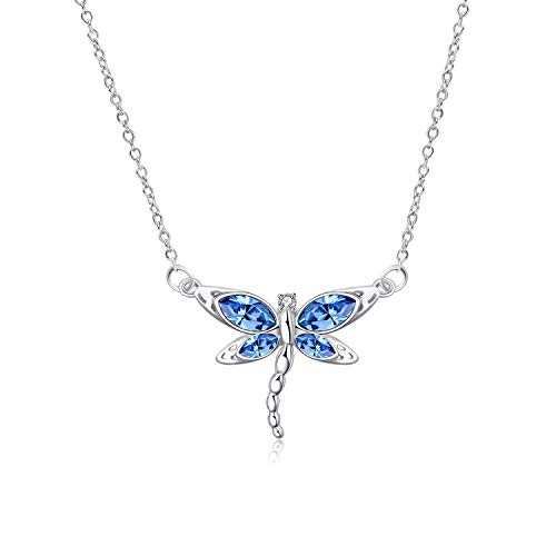 Dragonfly Gifts - Sterling Silver Dreamy Dragonfly Necklace - Dragonfly Jewelry Gifts for Her