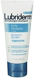 Lubriderm Daily Moisture Lotion Fragrance-Free 3oz Tube (6 Pack)