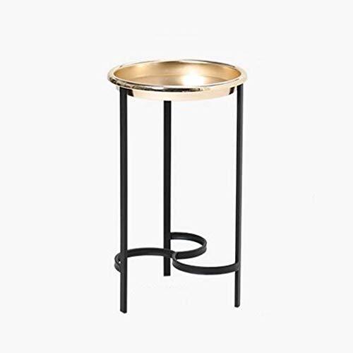 table basse table basse métal nordique simplicité moderne salon de loisirs balcon côté (Couleur : C, taille : 35cm*60cm)