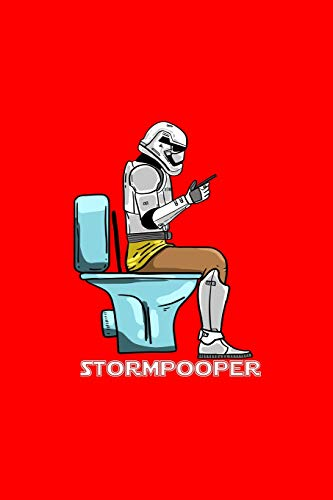 Stormpooper: Lined Journal - Storm Pooper Funny  Sci Fi Galaxy Poop Joke Humor Gift - Red Ruled Diary, Prayer, Gratitude, Writing, Travel, Notebook For Men Women - 6x9 120 pages - Ivory Paper