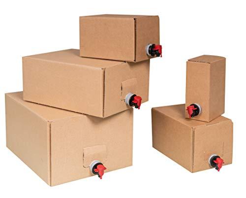 Bag-in-Box Sets - Karton und Beutel - 1,5L,3L,5L,10L und 20L (40, 3Liter)