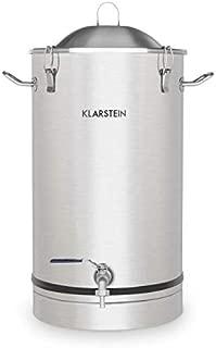 Klarstein Maischfest • 30-Liter Capacity • Fermentation Kettle • Beer Brewer • Home Brewery • 304 Steel • Home Fermentation of Beer and Wine • Includes Fermentation Vials • Stainless Steel
