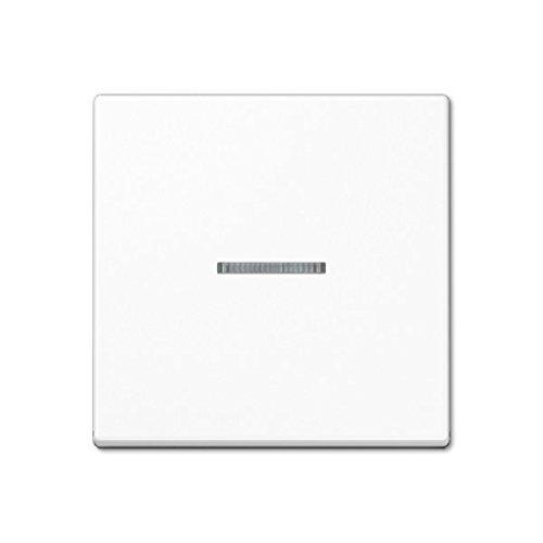 Jung 4011377099791 - Interruptor basculante con lente A 590 BF KO5 WW, color blanco alpino KNX; Serie A cubierta para interruptor, pulsador, regulador de intensidad y persiana