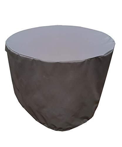 acoveritt Fire Pit Cover - Waterproof 600D Heavy Duty Round Patio Fire Bowl Cover - 40 inch