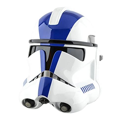 T.Y.G.F Mandalorianer Helm, Star Wars Helm, Mandalorian Helm Erwachsener Voller Kopf Maske Cosplay Kostüm Halloween Fancy Dress Merchandise Zubehör, Spritzguss-Modell aus PVC