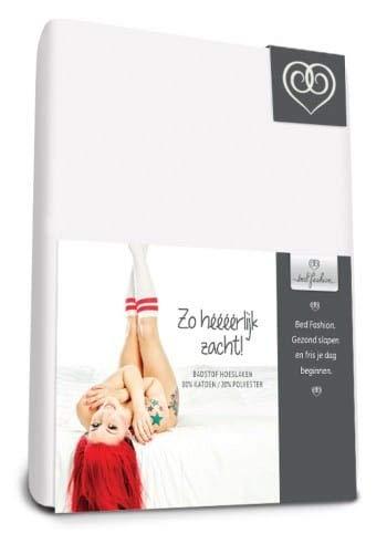Bed-Fashion Elasticizzato con Angoli, in Spugna, Bianco, Singolo, 90x 210cm