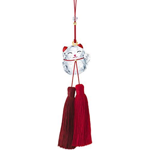 Swarovski Winkende Katze Ornament Figurine, Kristall, Mehrfarbig hell, 24 x 3,2 x 2,5 cm