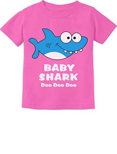 Baby Shark Song Doo doo doo Family Dance for Boy Girl Infant Kids T-Shirt 24M Pink