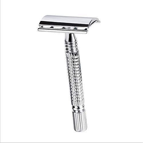 Mrjg Baumwolle Kurzer Stiel Klassischen Rasierapparat Double Edge Herren Shaving-Pack Cure Griff 1 Razor 1 Blade-Handbuch Shavers Mit Reiseetui Stoff