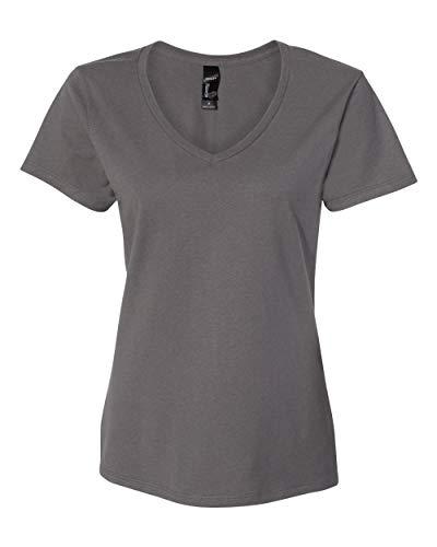 Hanes - Nano-T Women's V-Neck T-Shirt - S04V - 3XL - Smoke Grey
