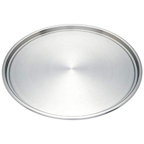 Maxam KTBKPZ Baking Stainless Steel Pizza Pan, 12-3/4', Silver
