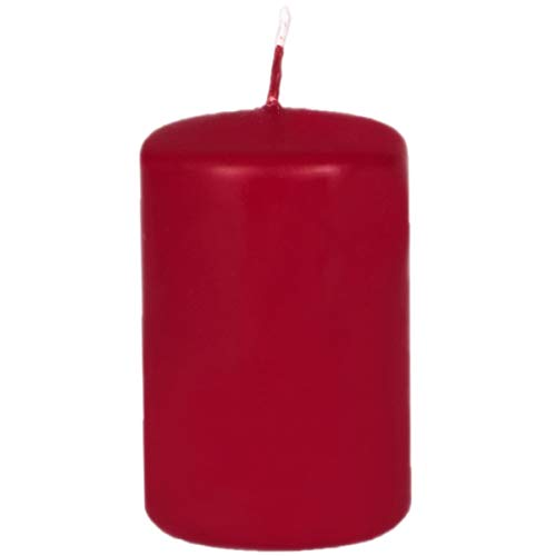 Adpal Kerzenmanufaktur Rosso Natale Candela 100X 70mm Superficie Opaca Candela
