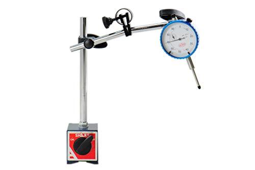 Shars Magnetic Base Holder Fine Adjustment with 1' White Face Dial Indicator (Fine Adjustment w/1' Dial Indicator)