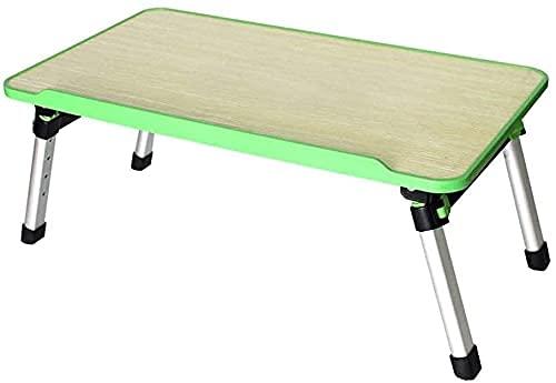 Mesa de Escritorio para computadora portátil Mesa de pie Mesa de pie de Mesa sofá portátil Bandeja al Aire Libre Camping Mesa de Picnic Ligero, 52 X 30X 24~32 Cm, Altura Ajustable (Color : Green)