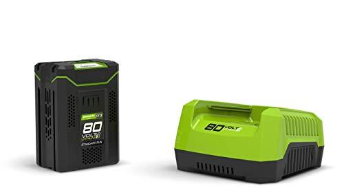Greenworks - Cargador de iones de litio G-MAX para batería de 80 V de iones de litio...