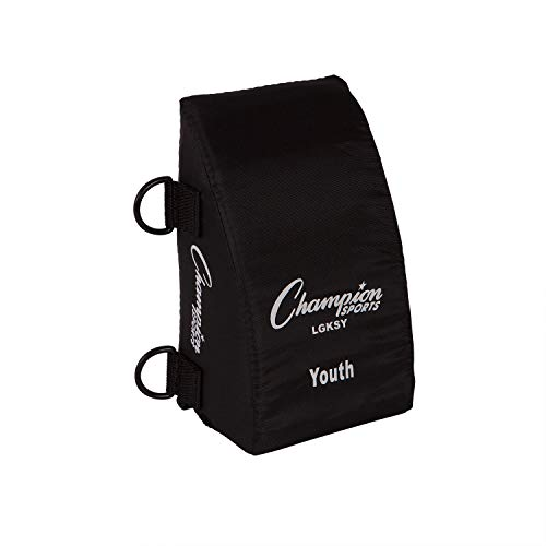 Champion Sports Catcher's Knee Support (Black, Youth)